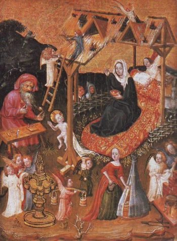 Holy Familywith Angels | Lower Rhenish School | oil painting