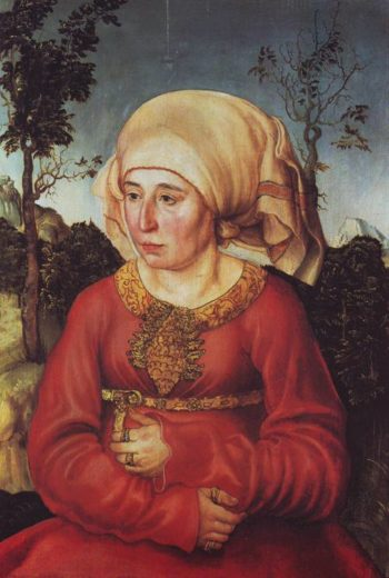 A Lady (The Wife Of Law Prfessor Johannes Reuss) | Lucas Cranach The Elder | oil painting