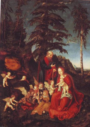 The Rest On The Flight Into Egypt | Lucas Cranach The Elder | oil painting