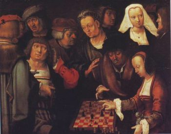 The Game Of Chess | Lucas Van Leyden | oil painting