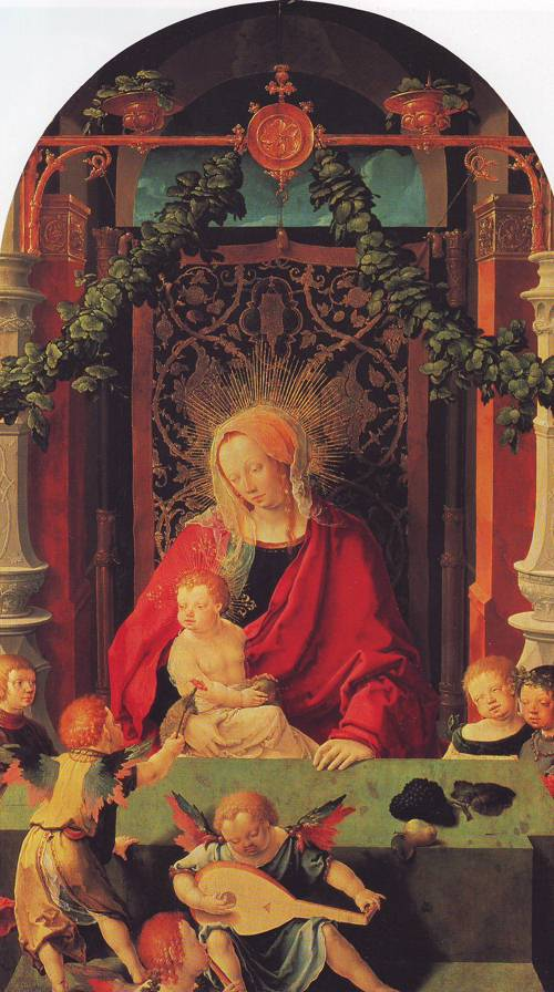 Virgin And Child With Angels | Lucas Van Leyden | oil painting
