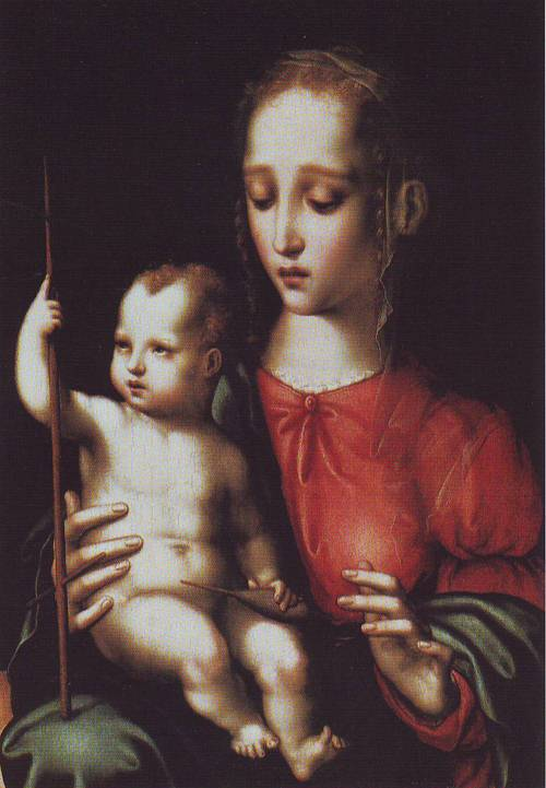 Madonna And Child With A Spindle | Luis De Morales | oil painting