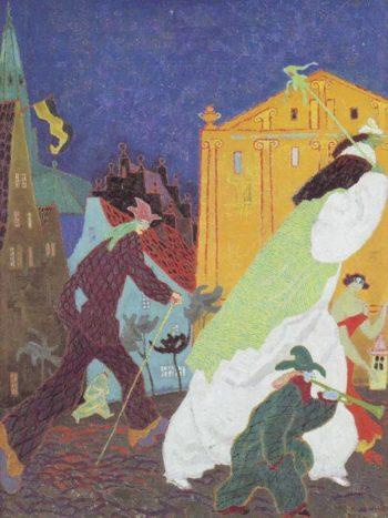 Carnival | Lyonel Feininger | oil painting