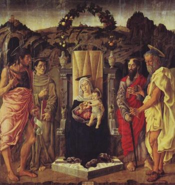 Madonna And Child Enthroned With Saints | Marco Zoppo | oil painting