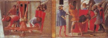 The Crucifixion Of St.Peter The Beheading Of St.John The Baptist | Masaccio | oil painting