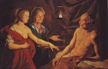 Sarah Leading Hagar To Abraham | Matthias Stomer | oil painting