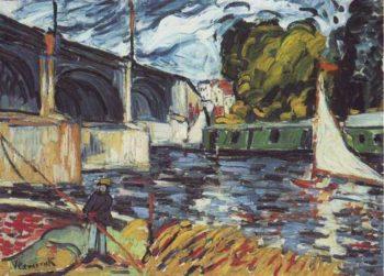 Bridge At Chatou | Maurice Vlaminck | oil painting