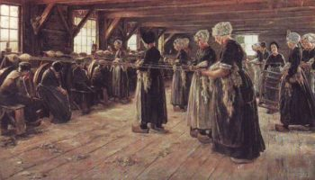 The Flax Workers | Max Liebermann | oil painting