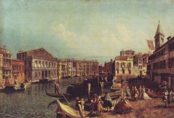 The Grand Canal With The Carezzonico And The Campo San Samuele | Michele Marieschi | oil painting