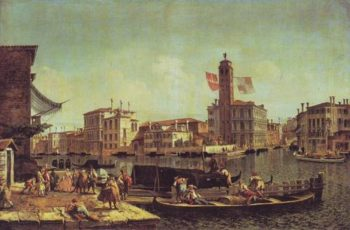 The Grand Canal With The Palazzo Labia And Entry To The Cannaregio | Michele Marieschi | oil painting