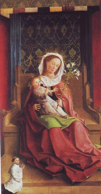 Virgin And Child Enthroned | Middle Rhenish | oil painting
