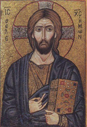 Salvator Mundi | Mosaic Ikon | oil painting