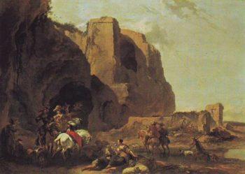 Return From The Falcon Hunt | Nicolaes Pietersz Berchem | oil painting
