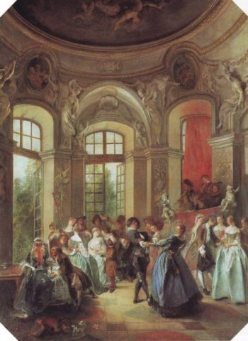 Dance In A Pavilion | Nicolas Lancret | oil painting