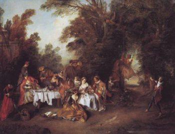 Le Repas Italien | Nicolas Lancret | oil painting