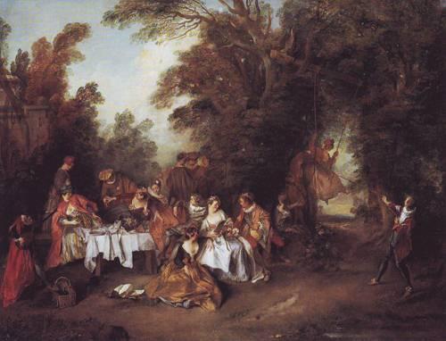 Le Repas Italien   Nicolas Lancret   oil painting