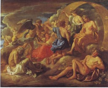 Helios And Phaeton With Saturn And The Four Weasons | Nicolas Poussin | oil painting
