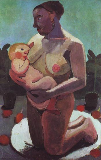 Nursing Mother | Paula Modersohn-Becker | oil painting