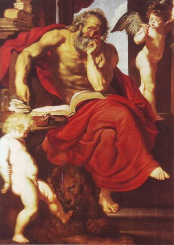 St Jerome In His Hermitage | Peter Apul Rubens | oil painting