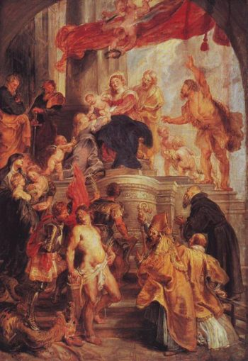 Madonna And Child Enthroned With Saints | Peter Paul Rubens | oil painting