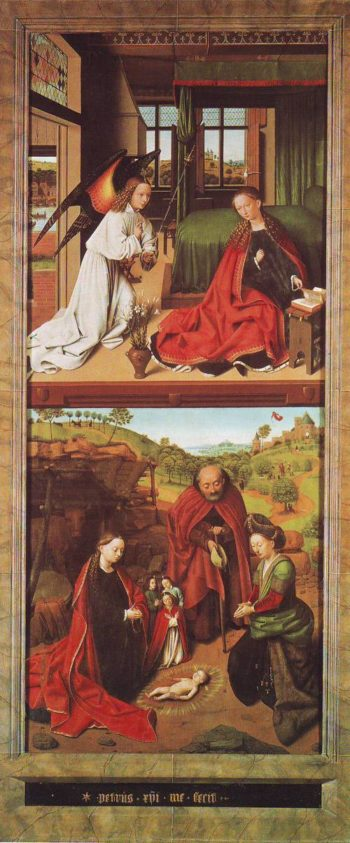 The Annunciation And The Nativity | Petrus Christus | oil painting