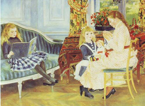 Children's Afternoon At Wargemont | Pierre-Auguste Renoir | oil painting