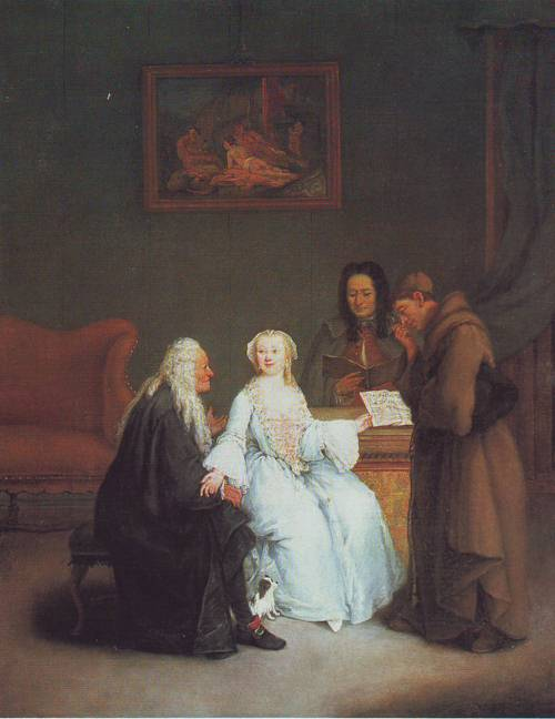 The Music Lesson | Pietro Longhi | oil painting