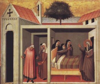 Blessed Humilitas Heals A Sick Nun | Pietro Lorenzetti | oil painting