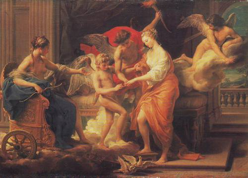 The Marriage Of Cupid And Psyche | Pompeo Girolamo Batoni | oil painting