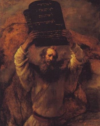 Moses Smashing The Tablets Of The Law | Rembrandt | oil painting
