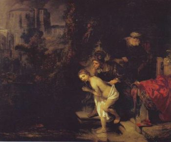 Wusanna And The Elders | Rembrandt | oil painting
