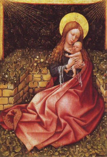Madonna By A Grassy Bank | Robert Campin | oil painting
