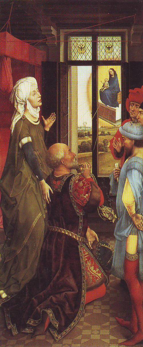 Madonna And Child Appearing To Caesar Augustus And The Tiburtine Sibyl | Rogier Van Der Weyden | oil painting