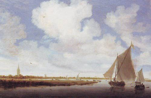 Sailboats On The Wijkermeer | Salomon Jacobsz Van Ruysdael | oil painting