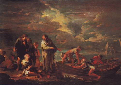 Pythagoras And The Fisherman | Salvator Rosa | oil painting