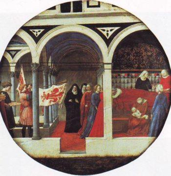 Birth Salver | San Giovanni Valdarno | oil painting