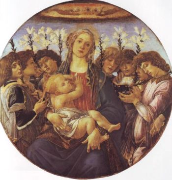Madonna And Child With Singing Angels | Sandro Di Mariano Filipepi | oil painting