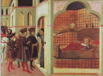 The Blessed Raniero Of Borgo San Sepolcro Appearing To A Cardinal In A Dream | Sassetta | oil painting