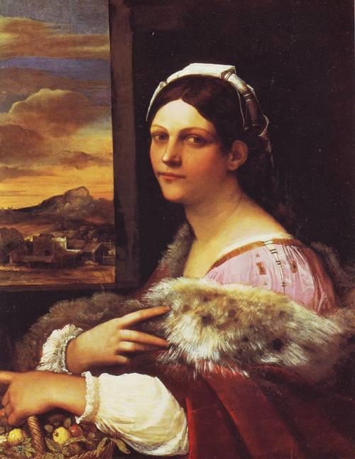 Ayoung Roman Woman | Sebastiano Del Piombo | oil painting
