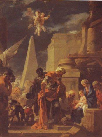 The Adoration Lf The Magi | Sebastien Bourdon | oil painting