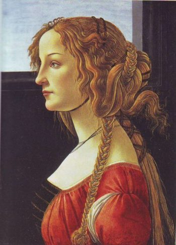 Profile Portrait Of A Young Woman | Studio Of Botticelli | oil painting