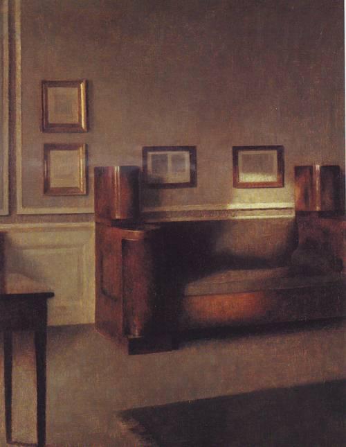 Wunny Chamber | Vilhelm Hammershoi | oil painting