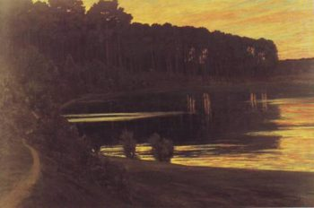 Lake Grunewald | Walter Leistilow | oil painting