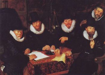 Five Regents Of The Groog Kramergild | Werner Van Den Valckert | oil painting