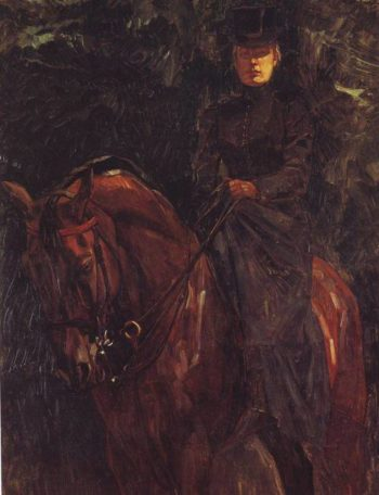 The Equestrienne Ida Gorz | Wilhelm Trubner | oil painting