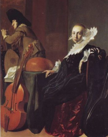 A Music Making Couple | Willem Cornelisz Duyster | oil painting