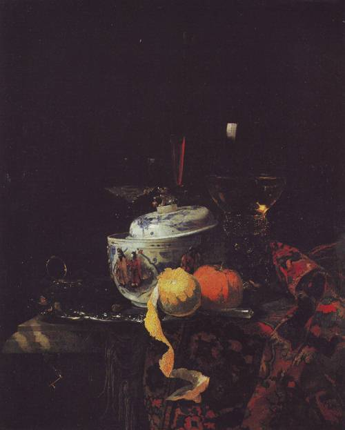 Still Life With Chinese Porcelain Bowl | Willem Kalf | oil painting