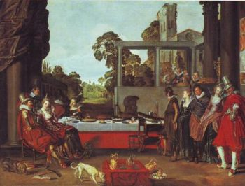 Merry Company On A Garden Terrace | Willem Pietersz Buytewech | oil painting