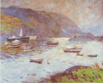 Monhegan Harbor Looking Toward Mananna Island | Charles H Ebert | oil painting