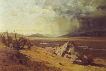 Looking Across South Park | Charles Partridge Amdams | oil painting